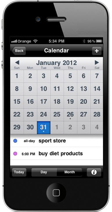 Health and Fitness - Calendar