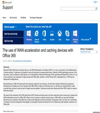 Steelhead Cloud Accelerator with Microsoft Office 365 A Strong Partnership Riverbed solutions work seamlessly with Microsoft software and applications WAN devices are a choice for customers to boost