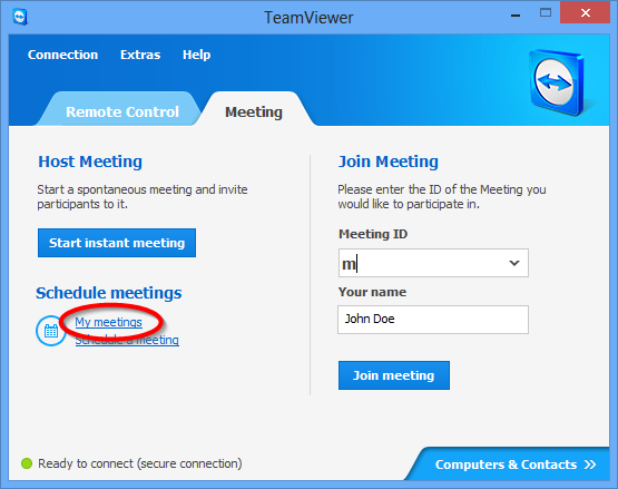 Meeting Option Save meeting for later reuse Configure Conference Call Description If activated, the meeting is retained in My Meetings after its start.
