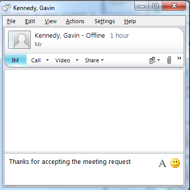 Relationship: This can be used like Groups, for colleagues, Research Groups, Staff Lists etc., and is set up in the same way as Groups. Instant Messaging: You can use Lync as an instant messenger.