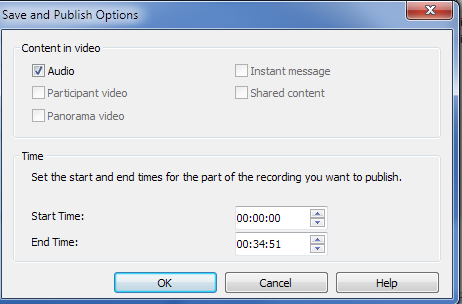 Managing Recordings 3. To create a Windows Media version of the recording, Click Manage Recordings 4.
