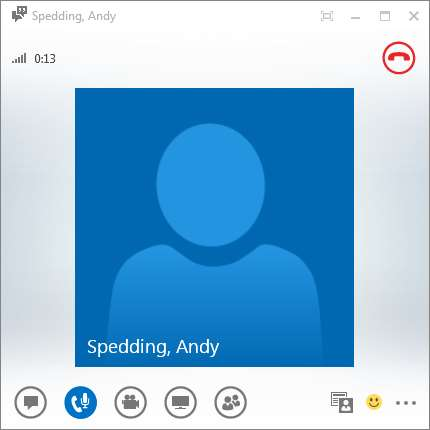 3.2. Accepting and Initiating Telephone and Video Calls If this window appears in the bottom right of your screen, someone is trying to call you.