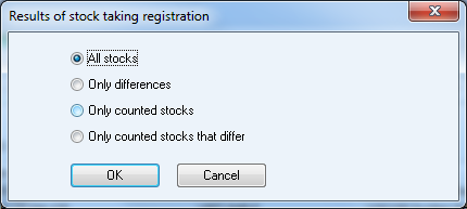 4.2 Register Stocktaking List When you have finished the stocktaking, you must enter the counted quantity in the system in order to get the stocktaking to take effect.