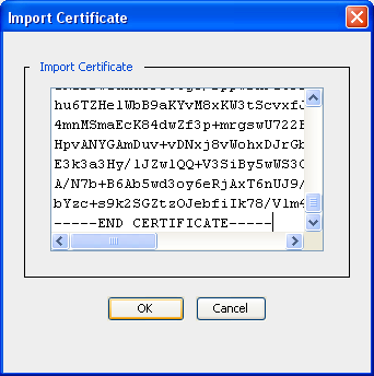 Import into SG Open Management console https://<cacheip>:8082/ and select SSL->keyrings Click Create Select show-keypair, and import keyring.