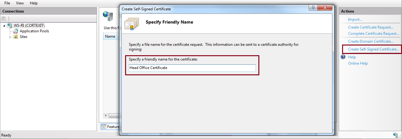 4. How to create a self-signed certificate This section explains how to create your own self-signed digital certificate.