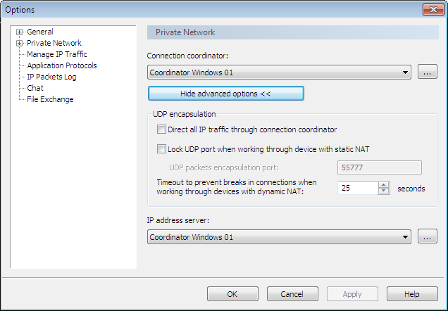 Checking Settings on Clients in the Office To check settings on clients located in the office: 1 In the ViPNet Client Monitor program, log on as an administrator. 2 On the Tools menu, click Options.