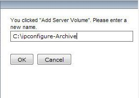 Step 31: ESM Add Server Volume Step 32: ESM Add Server Volume 1. Right Click on Location Server Archive 2. Click Add Server Volume 1.