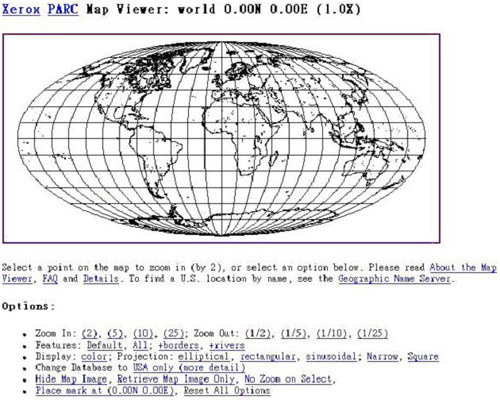 History of Web Mapping Xerox PARC Map Viewer 1993 Xerox PARC Map Viewer 1995 Argus MapGuide (proprietary) 1996
