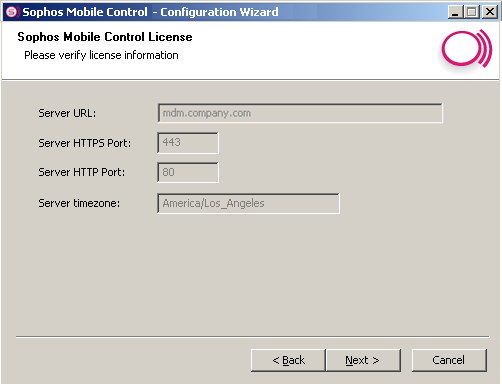 Installation guide 18. If you have selected the optional setup step Configure HTTP proxy in Choose setup steps, you can enter your HTTP proxy configuration details in the next step.