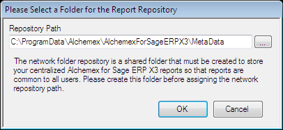 NOTE: You will need to change the Report Repository folder in the Report Manager so it points to the new Report Repository folder that was created earlier in the installation guide. 10.