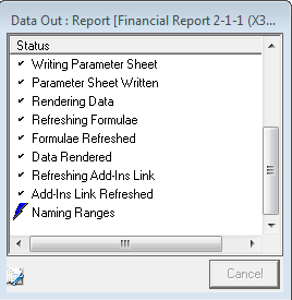 3. The Enter Report Parameters screen will open. Enter the parameters in each box and press the OK button. Use the unsure of what values to enter.