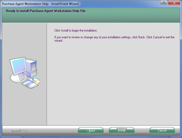 4. Select the Install button to continue with the installation.