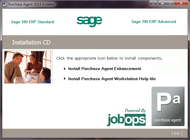 INSTALLING PURCHASE AGENT Installation Instructions The following installation steps should be followed only after Sage 100 ERP 2014 has been installed which includes the applications Purchase Order
