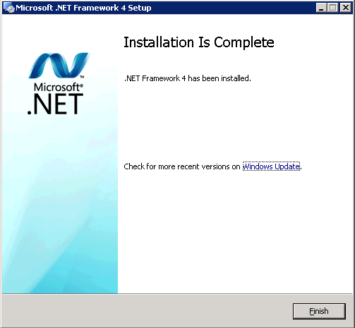 2 Installation Prerequisites Click on Finish to complete the installation