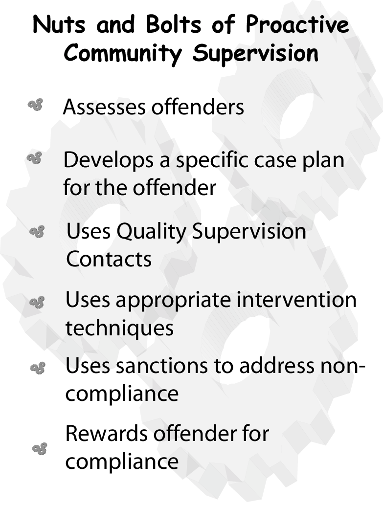 community supervision programs an alternative Community supervision and alternatives to incarceration bpi is working to expand the use of community supervision and other alternatives to incarceration in illinois to improve the effectiveness of these programs, we are ensuring they incorporate evidence-based practices, such as cognitive-behavioral therapy, manageable caseload sizes, and .