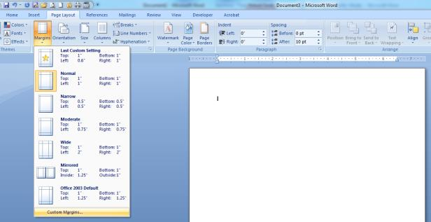 FORMATTING YOUR DOCUMENT WITH MS WORD This chapter is intended as a resource to assist you in formatting your document with Microsoft Word.