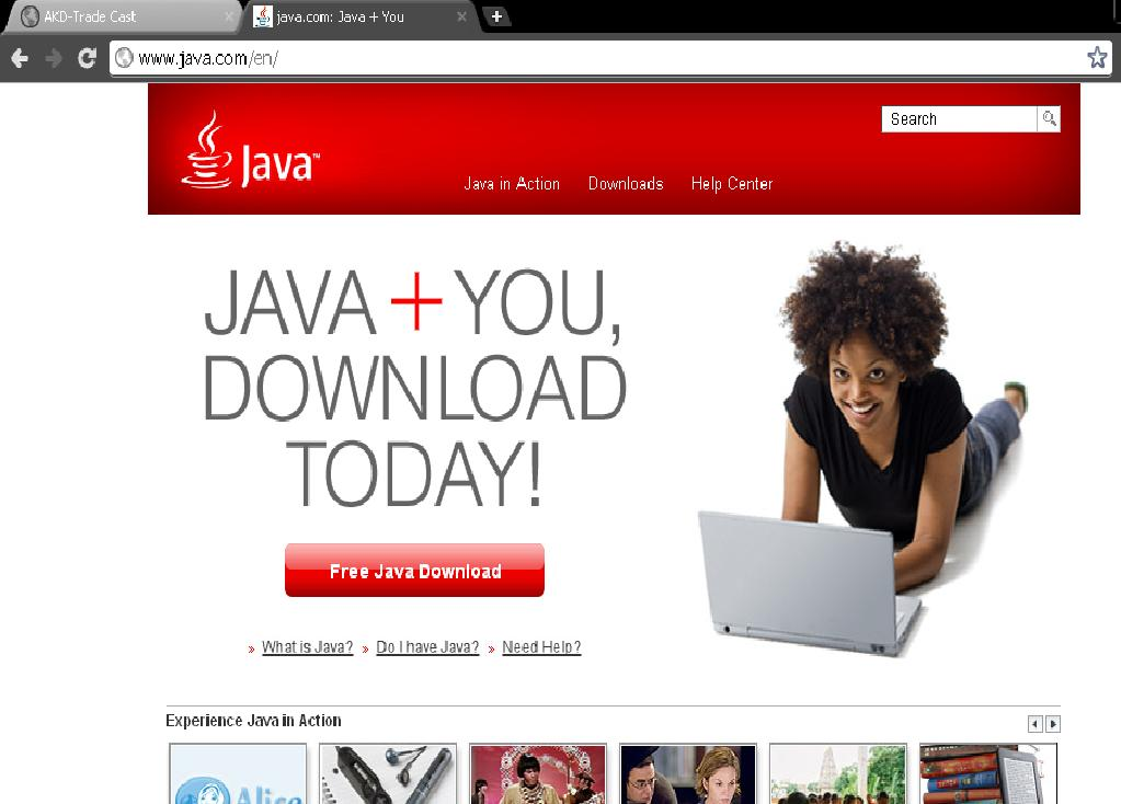 available version of JAVA on your system.