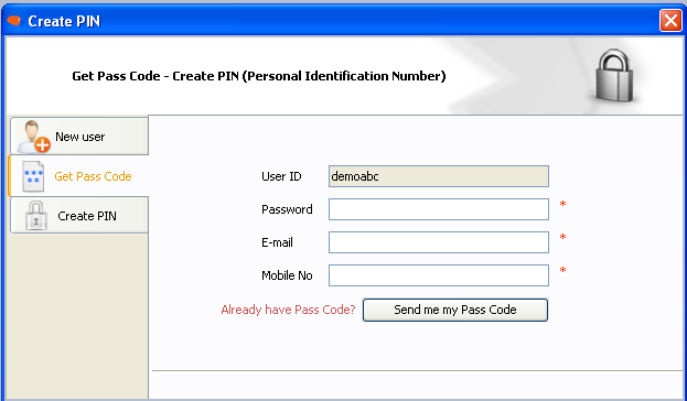 CREATE PIN: Once you change your password, you will be notified to create your PIN. Select Create PIN now and click Next Click on Get Pass Code.