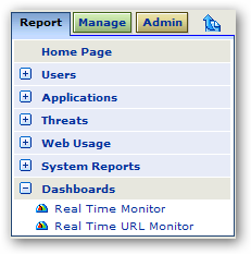 23 Test Case 3b - Real Time Reporting by Directory User In this test case you will utilize the Real Time URL monitor to view web hits generated by a directory user.