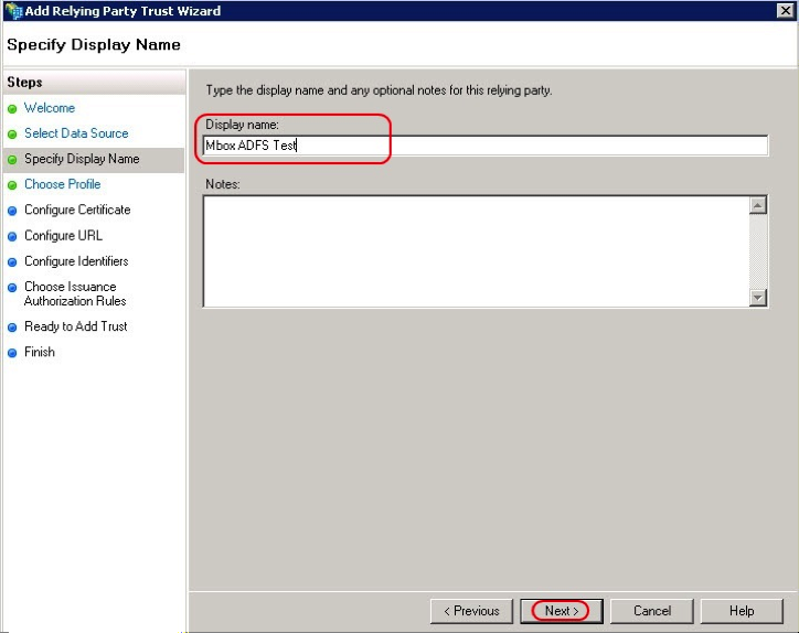 2.3 Select the option Enter data about the relying party manually -> Click Next 2.