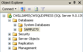 How to Copy A SQL Database SQL Server Express (Making a History Company) These instructions are written for use with SQL Server Express.