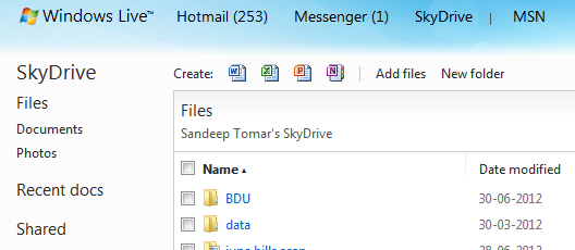 How to use SkyDrive? Log into your hotmail Click on SkyDrive Select appropriate option e.