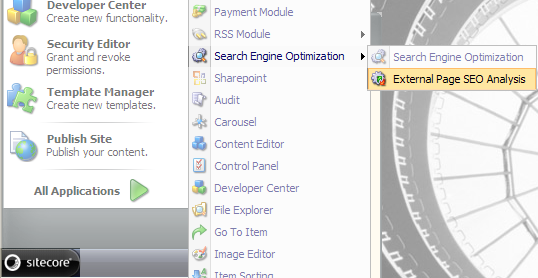 3.3 Analyzing an External Page You can also use the SEO Toolkit to analyze an external page.