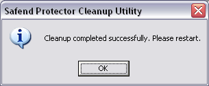 Safend Data Protection Suite Client Cleanup Utility A Client cleanup utility is available for use when you cannot uninstall Safend Data Protection Suite Client from an endpoint, using the processes