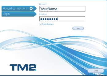 2. Login to TM2 Open TM2 by double clicking on the appropriate Desktop Shortcut and enter UserName and Password as used in FirstClass (if you are unable to do this then please email ICTSupport at