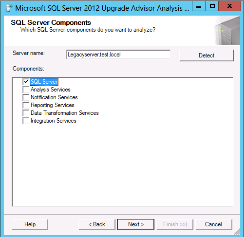 Once you have installed the SQL Server 2012 Upgrade Advisor, you can use this software to scan your SQL Server 2005 instances for potential migration issues.