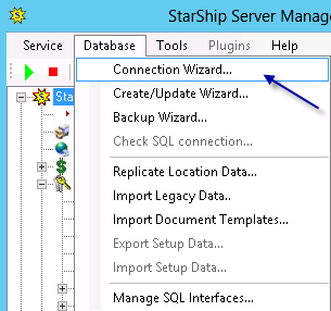 Section E Pointing the StarShip Server Manager to the restored StarShip database on the new SQL Server 18.