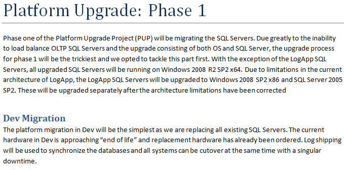 Sample upgrade plan On my blog: www.