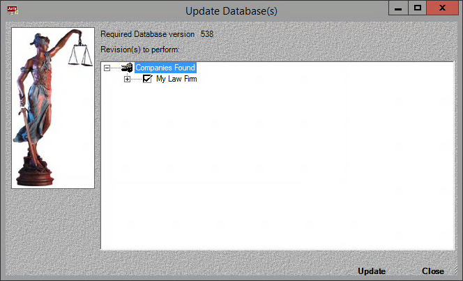 Updating Your Database If you are migrating your database or creating a brand new Juris database, you need to execute the Database Revision Update tool before using Juris. 1.
