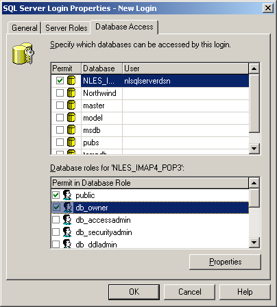 "Select the Database Access tab and make it an owner. Select OK. It will probably fail with the ""login already exists"" error, but you can then do step 6b again and it will succeed."