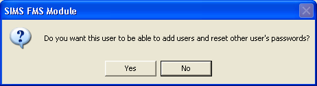 5. Enter a User ID and click the Save button. 6. A confirmation dialog will be displayed, click the Yes button. 7. In the Set Password For dialog, enter the new temporary password in the two fields.