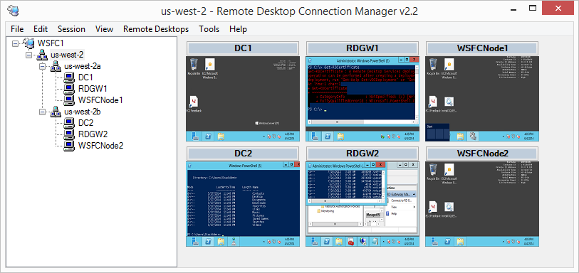 Appendix Remote Desktop Connection Manager Microsoft provides a free utility called Remote Desktop Connection Manager (RDCMan) that manages multiple remote desktop connections in a single user