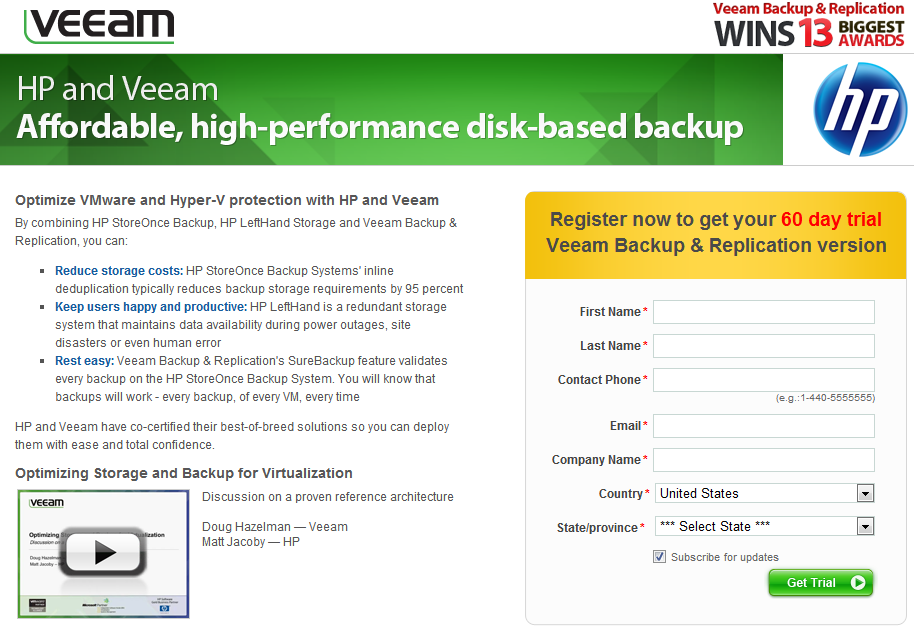 Next steps Visit: http://www.veeam.com/go3/hp_storage.