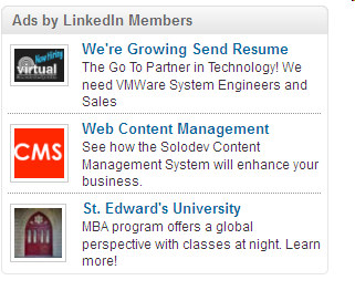 LinkedIn Advertising (B2B) Next Steps Similar to Facebook targeting, define and narrow the LinkedIn user profile to accurate pinpoint your target audience. Graphics are 50x50 pixels.
