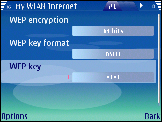 WEP key Enter the WEP key data. The number of characters you can enter depends on the key length you have chosen.