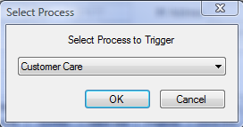Figure 111: Activities Tab with Activate a Process Button 2. Select the process you would like to activate from the drop-down list. Figure 112: Select a Process Screen 3. Click the OK button.