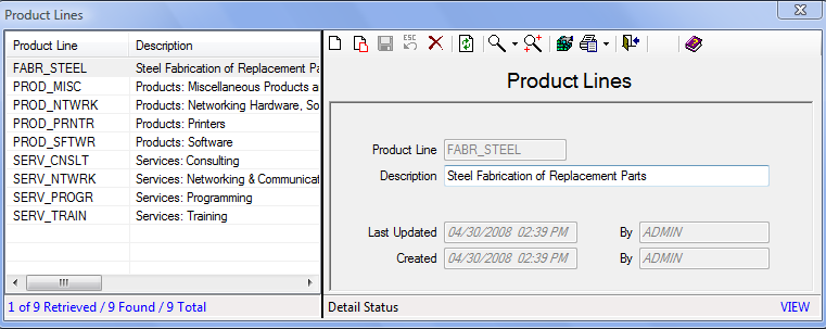 Products & Pricing How to Add a Product Line: 1. On the Set Up tab, in the Maintain Lookup Values group, click Finances and then select Product Lines. 2. Click the Add icon to add a new entry.