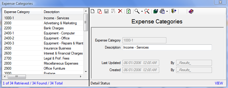 Expenses How to Add an Expense Category: 1. On the Set Up tab, in the Maintain Lookup Values group, click Finances and then select Expense Categories. 2. Click the Add icon to add a new entry.