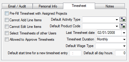 Timesheets How to Change Timesheet Configuration and Security 1. On the Setup tab, in the Security group, click Users. Note: This option is only available to users with Administrative rights. 2.