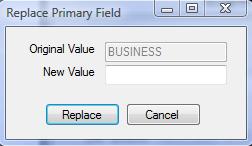 2. Select the entry you would like to edit from the list in the left grid. 3. Access the Replace option from the Toolbar of the data entry screen.