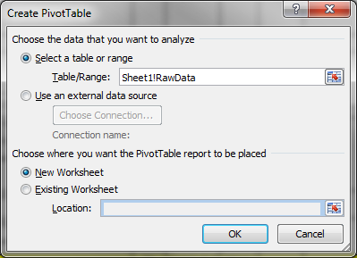 When adding new columns to a report, these new columns of data will then automatically be included in the PivotTable range. 4.