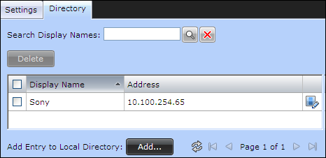 Defining a Local Directory of Endpoints About this task The local directory is a local database containing names and IP addresses of endpoints on the Scopia XT Desktop Server deployment.
