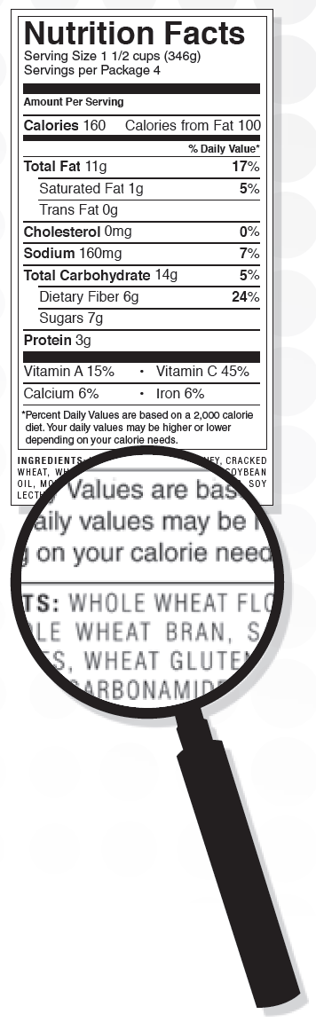 Identifying Whole Grains - Check the ingredient list. - First ingredient must be a whole grain.