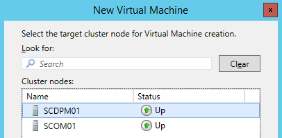 Exercise 6: Create a Clustered Virtual Machine In this exercise a Hyper-V virtual machine (VM) will be deployed on a cluster, then several settings will be configured.