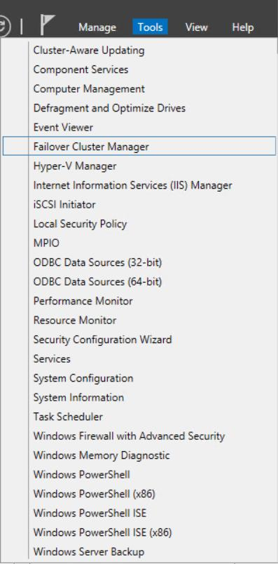 Exercise 1: Validate a Cluster In this exercise a 2-node Windows Server 2012 R2 Hyper-V failover cluster is validated using Failover Cluster Manager.