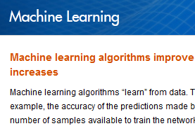 Learn More : Machine Learning with MATLAB http://www.mathworks.